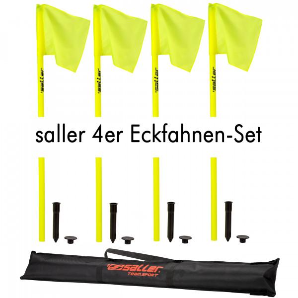 SALLER 4ER ECKFAHNEN-SET MIT TASCHE