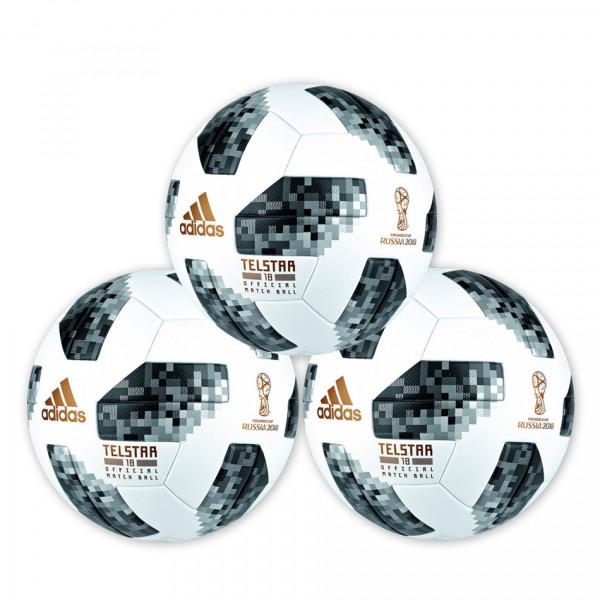 adidas Spielball »World Cup 2018 OMB Telstar« Paket