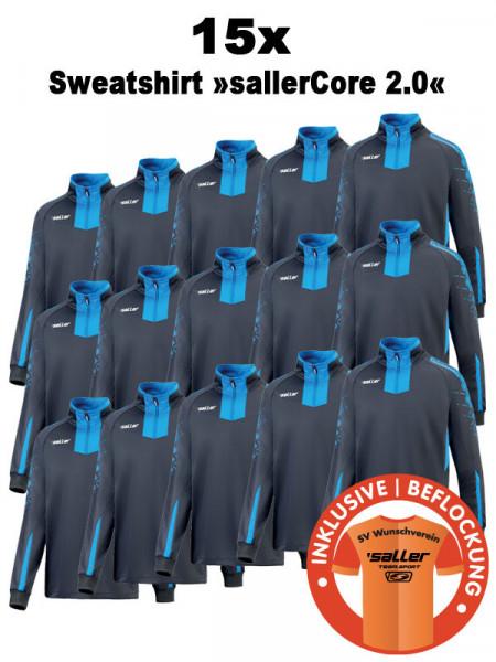 15x Sweatshirt »sallerCORE 2.0« inkl. Bedruckung