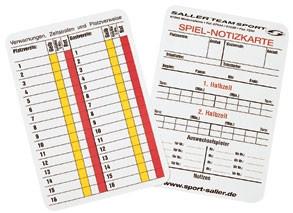 Spielnotizkarten Fußball