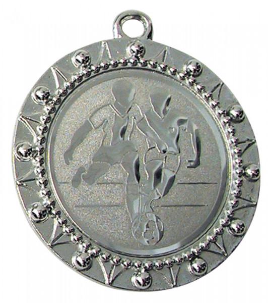 """""""Turnier Medaille, silbern »STANDARD-RELIEF«, 4 alternative Bänderfarben"""""""