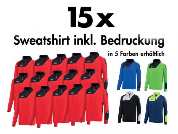 15 x Sweatshirt »sallerIcon« inkl. Bedruckung