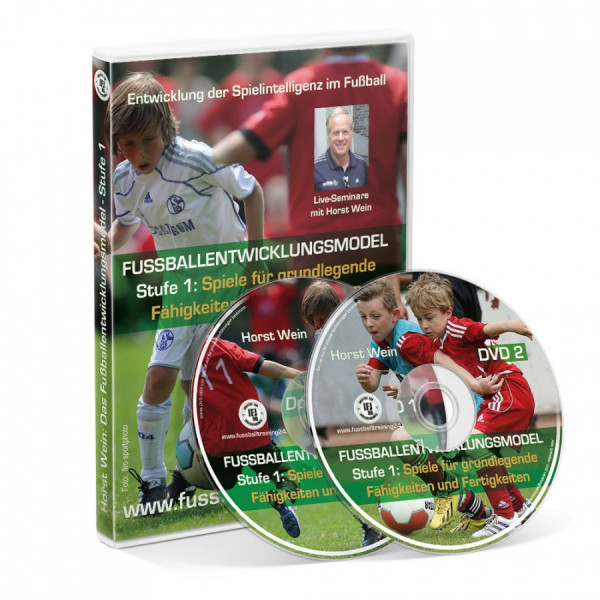 Doppel-DVD:» Live-Seminare mit Horst Wein - Das Fußballentwicklungsmodell - Stufe 1«