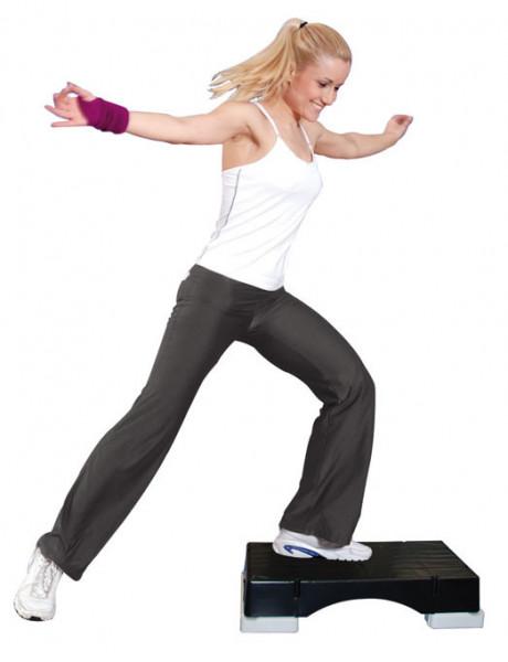 Aerobic Stepper mit Füßen